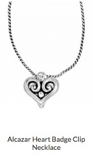 Alcazar Heart Badge Clip Necklace