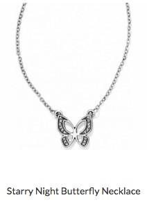 Starry Night Butterfly Necklace