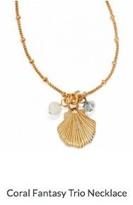 Coral Fantasy Trio Necklace
