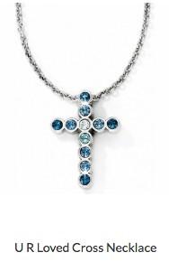 U R Loved Cross Necklace