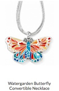 Watergarden Butterfly Convertible Necklace