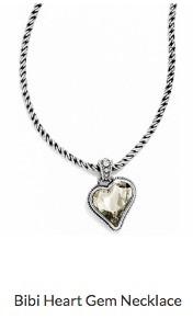 Bibi Heart Gem Necklace